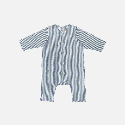 Cotton Kumar LS Overall Stripe - Grey/White - 6m-3y