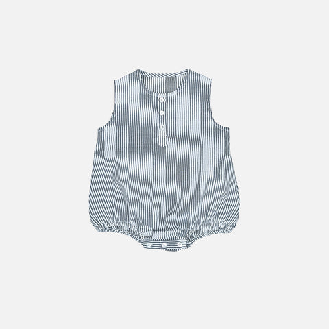 Cotton Kumar Romper - Stripe - 6m-3y