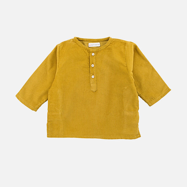 Cotton Kumar Kurta Babu - Curry - 6m-2y