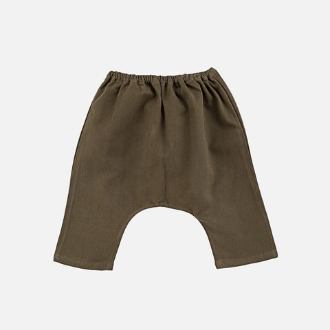 Cotton Twill Arniko Trousers - Olive - 6m-2y