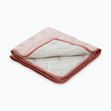 Organic cotton quilted play blanket - Sashiko Blush
