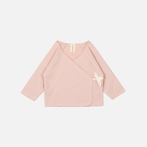 Organic Cross Over Baby Top - Vintage Pink - 0-12m