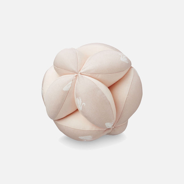 Organic Baby Grab Ball - Rose