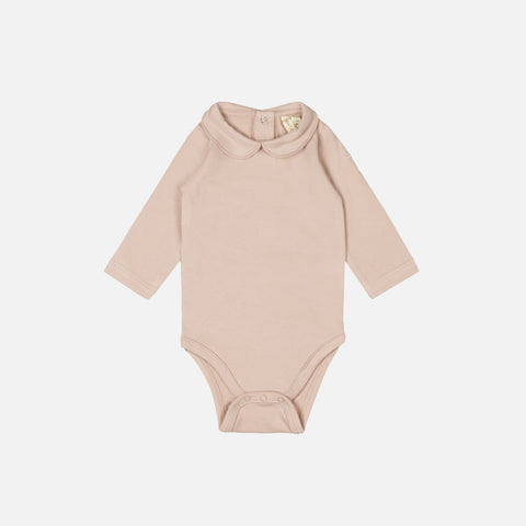 Organic Cotton Collar Body - Vintage Pink - 0-12m