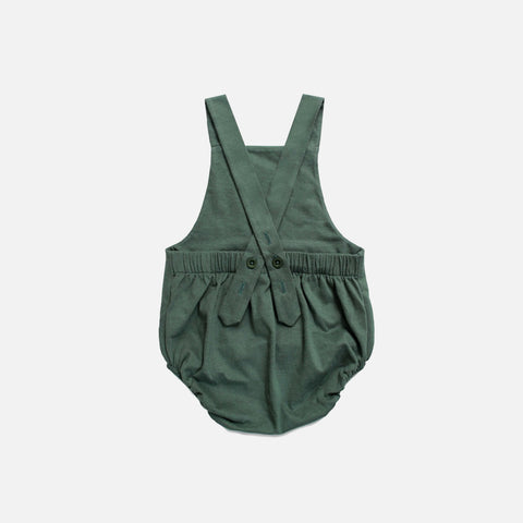 Organic Cotton Baby Summer Salopette - Sage - 1-12m