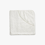Organic Cotton Hooded Baby Towel - Off White