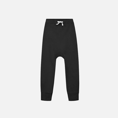 Organic Seamless Baggy Pants - Nearly Black - 12m-10y