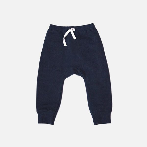 Organic Seamless Baggy Pants - Night Blue - 9-10y