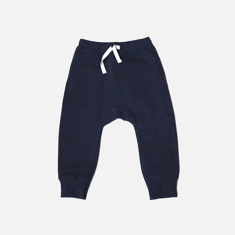 Organic Seamless Baggy Pants - Night Blue - 12m-8y