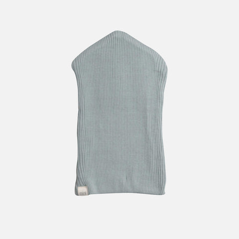 Silk/Cotton Rib Beanie - Pale Jade - 2-6y