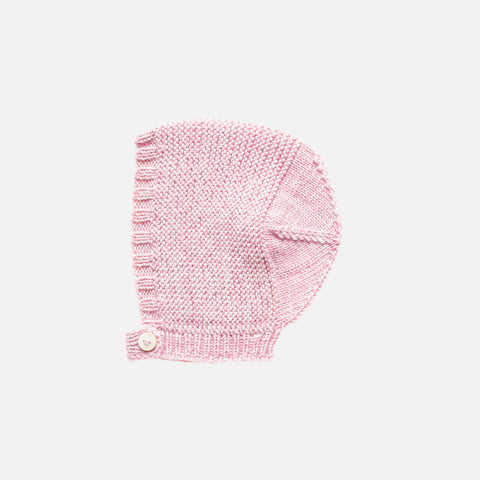 Hand Knit Merino Wool Beach Walk Bonnet - Lilac - 0m-6y