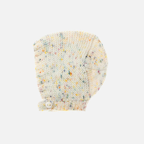 Exclusive Hand-Knit Merino Beach Walk Bonnet - Confetti Cake - 6-12m