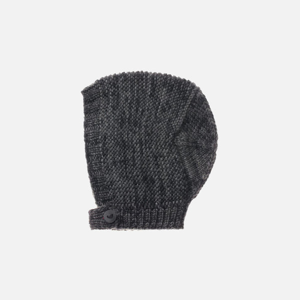 Exclusive Hand-Knit Merino Beach Walk Bonnet - Graphite - 0m-4y