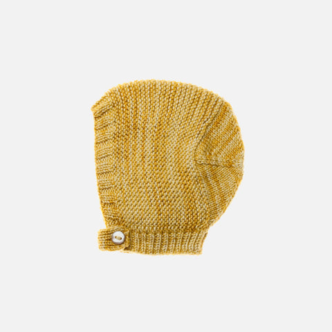 Exclusive Hand-Knit Merino Beach Walk Bonnet - Winter Wheat - 6-12m