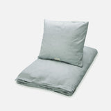 Organic Duvet & Pillow Cover Dot - Misty Green - Junior Cot