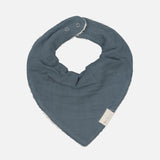 Organic Cotton Muslin And Terry Bandana Bib Set - Sea
