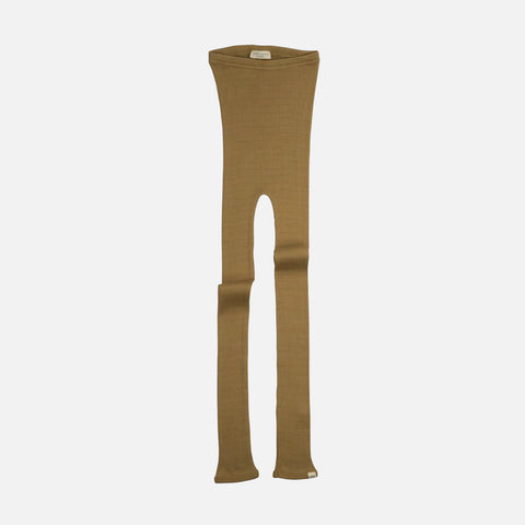 Silk/Cotton Bieber Rib Pants - Golden Leaf