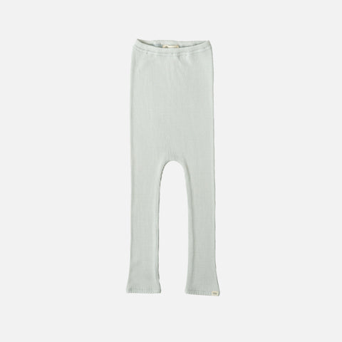 Silk/Cotton Bieber Rib Pants - Aqua - 1-6y