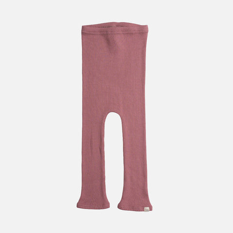 Silk/Cotton Bieber Rib Pants - Cozy Rose - 1m-5y