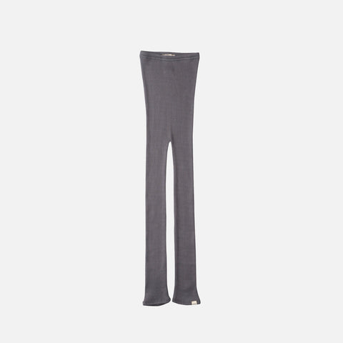 Silk/Cotton Bieber Rib Pants - Dark Grey - 1m-10y