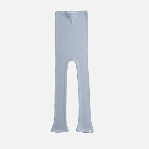 Silk/Cotton Rib Pants - Fog Blue - 1m-6y