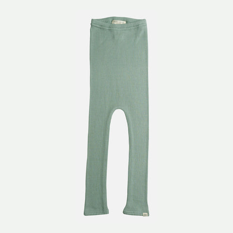 Silk/Cotton Bieber Rib Pants - Pale Jade - 1m-10y