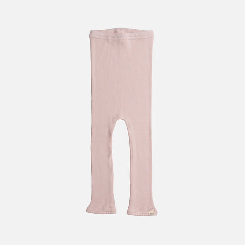 Silk/Cotton Bieber Rib Pants - Sweet Rose - 1m-10y