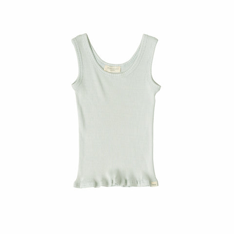 Silk/Cotton Billund Rib Tank Top - Aqua - 2-5y