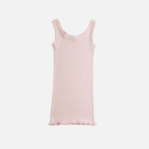 Silk/Cotton Rib Tank Top - Sweet Rose - 2-6y
