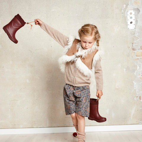 Natural Rubber Boots - Wool Lined - Bordeaux