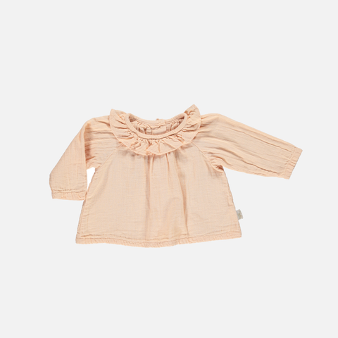 Organic Round Collar Blouse - Apple Blossom - 3m-3y
