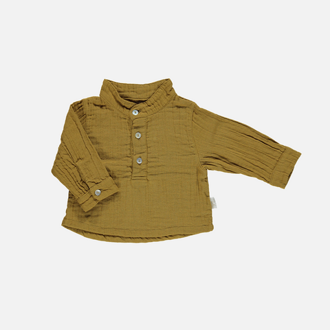Organic Garcon Blouse - Cassonade - 3-8 years