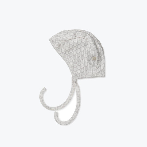 Organic Cotton Bonnet - Grey Wave - 0-12m