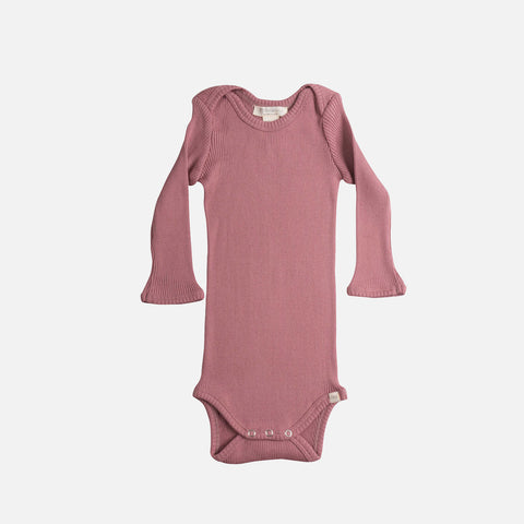 Silk/Cotton LS Body - Cozy Rose - 1-24m