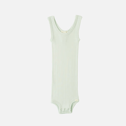 Silk/Cotton Bornholm Tank Body Baby - Aqua - 1m-3y
