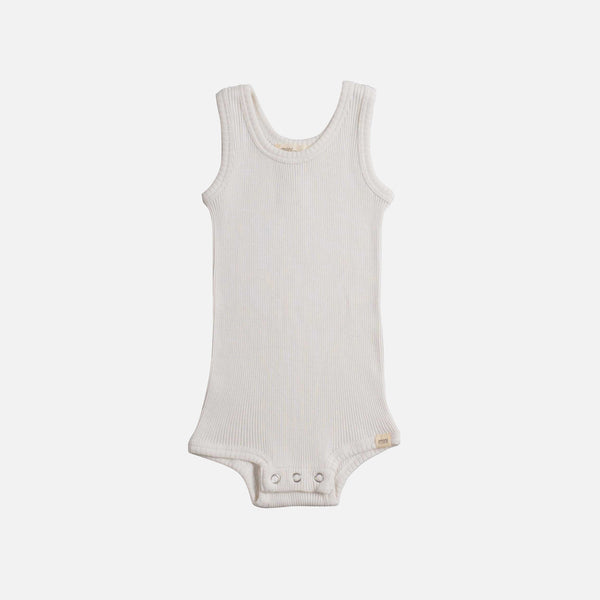 Silk/Cotton Bornholm Tank Body Baby - Cream - 1-24m