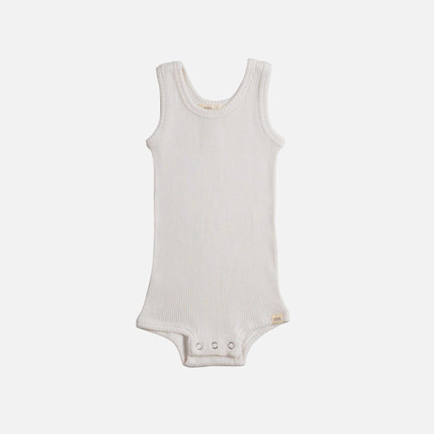 Silk/Cotton Tank Body - Cream - 1-24m