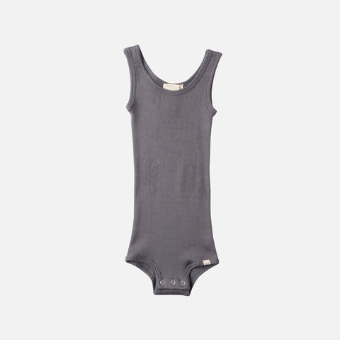 Silk/Cotton Bornholm Tank Body Baby - Dark Grey - 1m-3y