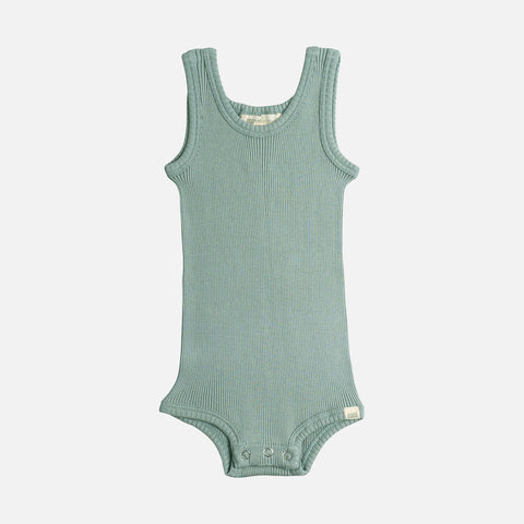 Silk/Cotton Bornholm Tank Body Baby - Pale Jade - 1m-3y
