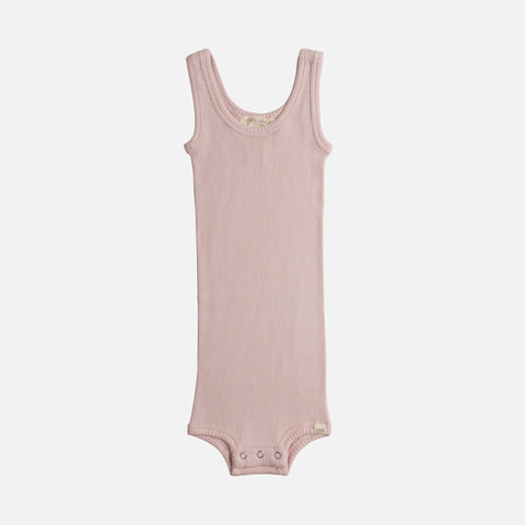 Silk/Cotton Tank Body - Sweet Rose - 1-24m
