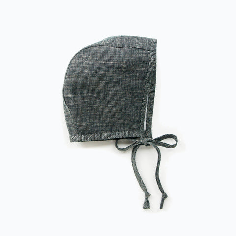 Cotton/Hemp/Wool Bonnet - Charcoal - 0m-4y