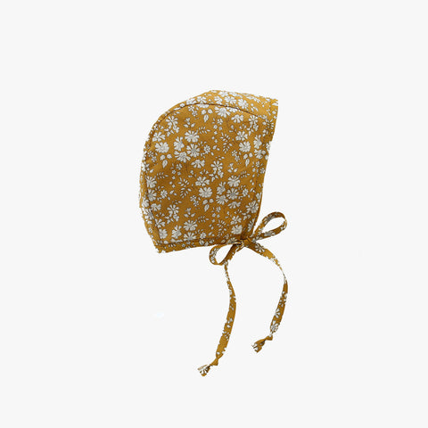 Cotton Liberty Bonnet - Buttercup - 0m-4y