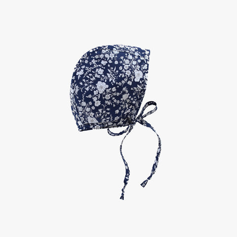 Cotton Liberty Bonnet - Midnight Bouquet - 0m-4y