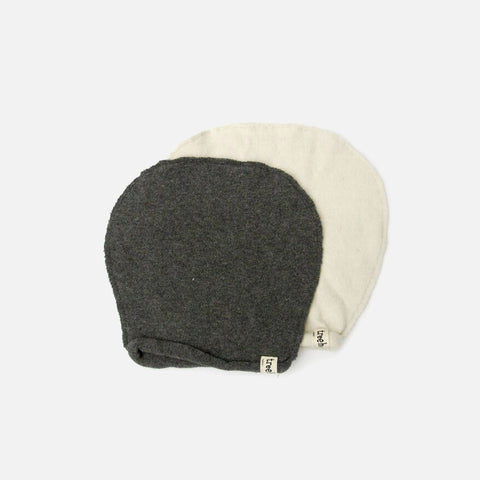 Organic Cotton Beanie - Charcoal - 0-8y