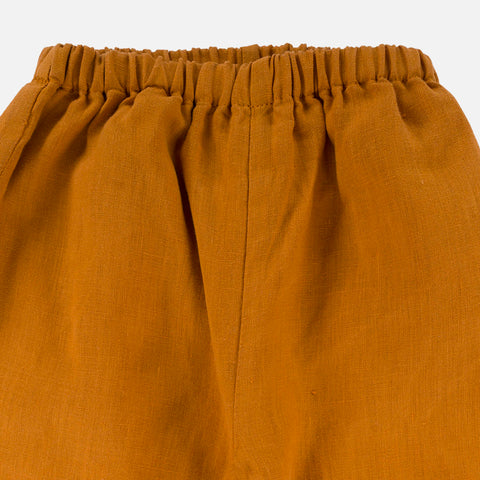 Linen Caspar Trousers - Sunrise Orange