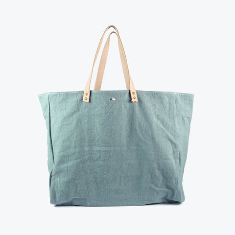 Cabas Organic Cotton and Leather Tote - Atlas - XL
