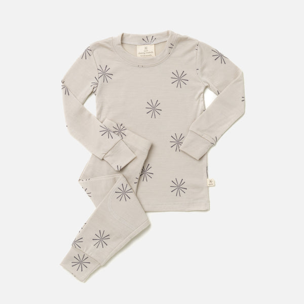 Merino Top & Bottoms Set - Grey Windmill - 2-10y