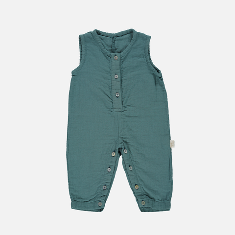 Organic Light Cotton Romper - Hydro - 3-24m