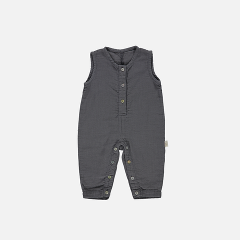 Organic Light Cotton Romper - Iron Gate - 3-24m
