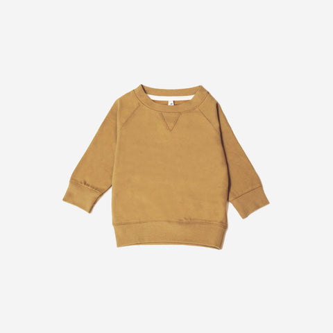 Organic Crew Neck Sweater - Mustard - 7-8y